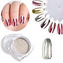 Недорогие Косметика и уход за ногтями-1 1шт Порошок блеска Зеркальный эффект / Гель для ногтей Дизайн ногтей
