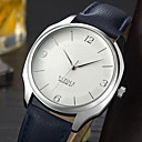 رخيصةأون أساور-YAZOLE رجالي ساعة كاجوال كوارتز جلد اصطناعي أسود / أزرق / بني ساعة كاجوال مماثل موضة الحد الأدنى - أسود / أزرق الأبيض / الأزرق أبيض / البيج