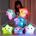 رخيصةأون مصابيح ليد مبتكرة-Luminous pillow Led Light Pillow Start Shape رومانسية حيوانات محشية محبوب مريح للفتيات ألعاب هدية