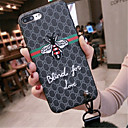 tanie Etui do iPhone-Kılıf Na Apple iPhone X / iPhone 7 Plus Wzór Czarne etui Napis Miękkie TPU na iPhone X / iPhone 8 Plus / iPhone 8
