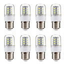ieftine Becuri LED Corn-BRELONG® 8pcs 3 W Becuri LED Corn 270 lm E14 E26 / E27 24 LED-uri de margele SMD 5730 Alb Cald Alb 220-240 V