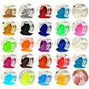 hesapli Lamba Tabanları-1set / 1pc Yapay Nail İpuçları Parıltı Payetler 24 Renk tırnak sanatı Manikür pedikür Işıltılı