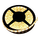cheap Modules-5m Flexible LED Light Strips 300 LEDs 5050 SMD Warm White Cuttable / Waterproof / Linkable 12 V / IP65 / Self-adhesive