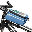 hesapli Bisiklet Çantaları-5.5 inç Dokunmatik Ekran Bisiklet için Bisiklete biniciliği Siyah