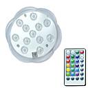 baratos Arandelas de Exterior-BRELONG® 1pç 3 W Lâmpada Subaquática Impermeável / Controlado remotamente / Decorativa RGB 5.5 V Piscina 12 Contas LED