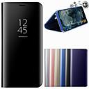 رخيصةأون سماعات الرأس و الأذن-غطاء من أجل Samsung Galaxy S9 Plus / S9 مع حامل / مرآة غطاء كامل للجسم لون سادة قاسي جلد PU إلى S9 / S9 Plus / S8 Plus