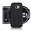 ieftine Carcase / Huse Galaxy S Series-Maska Pentru Samsung Galaxy S8 S7 edge Banderole sportive Titluar Card Anti Șoc Bandă de Mână Mată Moale PC pentru S7