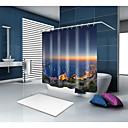 preiswerte Tablet-Hüllen-Duschvorhänge & Ringe Moderne Mediterran Polyester Zeitgenössisch Neuheit Maschinell gefertigt Wasserfest Bad