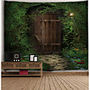 cheap Wall Art-Architecture Wall Decor Polyester Vintage Wall Art, Wall Tapestries Decoration