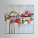 رخيصةأون جواكيت رجالي-هانغ رسمت النفط الطلاء رسمت باليد - تجريدي الحديث بدون إطار داخلي / توالت قماش