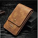 Χαμηλού Κόστους Θήκες / Καλύμματα για Huawei-tok Για Huawei P9 P10 Θήκη καρτών Πορτοφόλι Τσαντάκι πουγκί Συμπαγές Χρώμα Σκληρή γνήσιο δέρμα για P10 Plus P10 Lite P10 Huawei P9 Plus