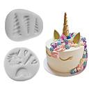 hesapli Fırın Araçları ve Gereçleri-Bakeware araçları Silikon Çok-fonksiyonlu Pişirme Kaplar İçin Pasta Kalıpları 2pcs