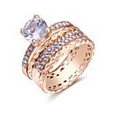 baratos Anéis-Mulheres Anéis para Falanges / Anel Multidedos - Cobre Europeu, Fashion 7 Dourado Para Diário