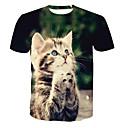 billige T-shirts og undertrøjer til herrer-Rund hals Herre - Dyr T-shirt Grøn XXXXL / Kortærmet