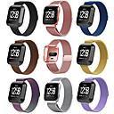 저렴한 Fitbit 밴드 시계-시계 밴드 용 Fitbit Versa 핏빗 밀라노 루프 스테인레스 스틸 손목 스트랩
