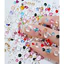 hesapli Makyaj ve Tırnak Bakımı-1 pcs Parıltı Tırnak Sanatı Formları Tatlı / Parıltılı / Kendin-Yap tırnak sanatı Manikür pedikür Günlük Kristal / Şık