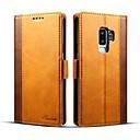 お買い得  Galaxy S シリーズ ケース/カバー-ケース 用途 Samsung Galaxy S9 Plus / S9 ウォレット / カードホルダー / フリップ フルボディーケース ソリッド ハード PUレザー のために S9 / S9 Plus
