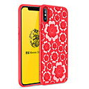 cheap iPhone Cases-Case For Apple iPhone X / iPhone 8 Shockproof Back Cover Solid Colored / Flower Soft TPU for iPhone X / iPhone 8 Plus / iPhone 8