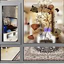 رخيصةأون الستائر-فيلم نافذة وملصقات زخرفة معاصر ورد PVC ملصق النافذة / بدون لمعة