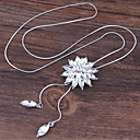 cheap Brooches-Women's Pendant Necklace - Flower European, Sweet, Fashion White, Blue 70 cm Necklace Jewelry For Party