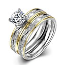 cheap Rings-Men's Ring Set - Stainless 6 / 7 / 8 Gold For Daily / Street
