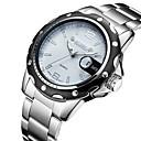 preiswerte Uhren Herren-Herrn Uhr Sportuhr Quartz Legierung Silber Kalender Analog Luxus Weiß Schwarz