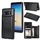 저렴한 갤럭시 J 시리즈 케이스 / 커버-케이스 제품 Samsung Galaxy Note 8 카드 홀더 스탠드 뒷면 커버 솔리드 하드 PU 가죽 용 Note 8