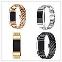 저렴한 Fitbit 밴드 시계-시계 밴드 용 Fitbit Charge 2 핏빗 나비 버클 메탈 스테인레스 스틸 손목 스트랩