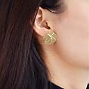 رخيصةأون أقراط-أقراط قطرة هندسي سيدات موضة الأقراط مجوهرات ذهبي من أجل مناسب للبس اليومي مواعدة