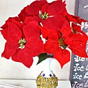 cheap Artificial Flowers-Artificial Flowers 1 Branch Traditional / Classic Poinsettia Tabletop Flower
