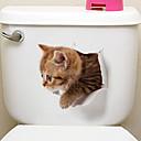 preiswerte DIY-Sets-Kühlschrank Sticker Bad Sticker - Tier Wandaufkleber Tiere 3D Wohnzimmer Schlafzimmer Badezimmer Küche Esszimmer Studierzimmer / Büro