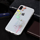 cheap iPhone Cases-Case For Apple iPhone X / iPhone 8 Plating / Pattern Back Cover Butterfly / Dandelion Soft TPU for iPhone X / iPhone 8 Plus / iPhone 8