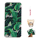 baratos Capinhas para iPhone-Capinha Para Apple iPhone X / iPhone 8 Plus Estampada Capa traseira Plantas Macia TPU para iPhone X / iPhone 8 Plus / iPhone 8