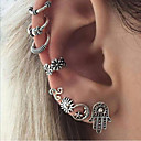 cheap Dog Clothing & Accessories-Women's Stud Earrings Hoop Earrings Ear Cuff Geometrical Sun Moon Ladies Bohemian Ethnic Boho Earrings Jewelry Silver For Evening Party Street
