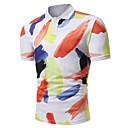저렴한 패션 목걸이-남성용 컬러 블럭 프린트 - Polo, 귀여운 / 활동적 면 / 짧은 소매 / 비치