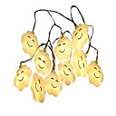 cheap LED Strip Lights-1.5m String Lights 10 LEDs Warm White Decorative AA Batteries Powered 1pc