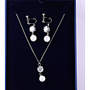 cheap Makeup & Nail Care-Women's Cubic Zirconia Jewelry Set Ball Fashion, Elegant Include Drop Earrings Pendant Necklace White For Wedding Party