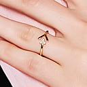 preiswerte Schlüsselanhänger-Damen Öffne den Ring - S925 Sterling Silber Zierlich, Koreanisch, Modisch 8 Gold Für Ausgehen Valentinstag