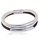 abordables Bracelets-Effets superposés Bracelets - Européen, Mode, Multicouches Bracelet Noir / Argent / Gris Pour Soirée