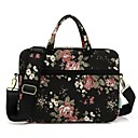 "cheap Laptop Bags & Backpacks-13.3"" 14"" 15.6"" Shoulder Messenger Bag Briefcase Handbags Canvas Floral Print for Macbook/Surface/HP/Dell/Samsung/Sony Etc"