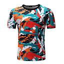 billige T-shirts og undertrøjer til herrer-Herre - Stribet / Geometrisk / Farveblok Patchwork / Trykt mønster T-shirt
