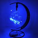 hesapli Yenilikçi LED Işıklar-HKV 1pc Gece aydınlatması LED Sıcak Beyaz RGB Eflatun Mavi AA Bataryalar Powered Modellendirme Güvenlik Yaratıcı