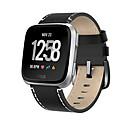 Недорогие Ремешки для спортивных часов-Ремешок для часов для Fitbit Versa Fitbit Современная застежка Натуральная кожа Повязка на запястье