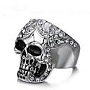 ieftine Inele-Zirconiu Cubic Geometric Band Ring Inel Craniu Vintage Punk Inele la Modă Bijuterii Argintiu Pentru Petrecere Cadou 8 / 9 / 10 / 11 / 12
