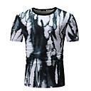 economico T-shirt e canotte da uomo-T-shirt - Taglie UE / USA Per uomo Collage / Con stampe, A strisce / Fantasia geometrica / Monocolore Rotonda - Cotone Nero XL