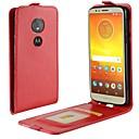 رخيصةأون Motorola أغطية / كفرات-غطاء من أجل موتورولا Moto X4 / MOTO G6 / Moto G6 Play حامل البطاقات / قلب غطاء كامل للجسم لون سادة قاسي جلد PU