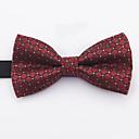 cheap Bracelets-Men's Basic Cotton / Polyester Bow Tie - Geometric / Color Block Black & Red, Criss-Cross / All Seasons