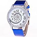 preiswerte Damenuhren-Damen Armbanduhr Chinesisch Chronograph / lieblich / Großes Ziffernblatt Leder Band Armreif / Elegant Schwarz / Weiß / Blau / Ein Jahr
