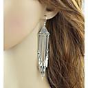 preiswerte Ohrringe-Damen Quaste Tropfen-Ohrringe - Glücklich Quaste, Modisch Silber Für Alltag Verabredung