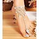 hesapli Mac Stickerlar-Kalın Zincir Barefoot Sandalet - Şık, Klasik Gümüş Uyumluluk Düğün Bikini Kadın's / Yapay Elmas